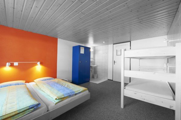 Bunk Bed in a Hostel Room