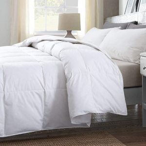 Cosybay 100 percent Cotton-Quilted Down Comforter