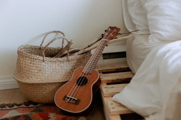 Native Basket and Small Guitar