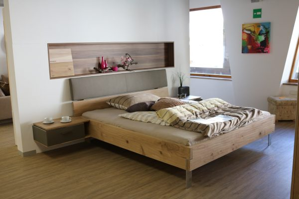 Simple Bedroom with Wood Accents